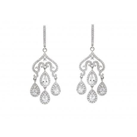 Pendientes chandelier novia plata y circonitas aloadofball Choice Image