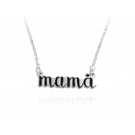 Mama Silver Necklace