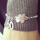 Sterling Silver Cloud Tag Macrame Bracelet