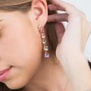 Rhodium Silver Swarovski® Drop Earrings