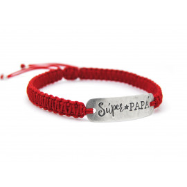 Sterling Silver Macrame Dad Bracelet