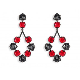 Sterling Silver Ruthenium Earrings with Swarovski®
