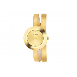 ELIXA Steel and Leather Wrist Watch E092-L35ELIXA Gold Plated and Leather Wrist Watch E092-L349