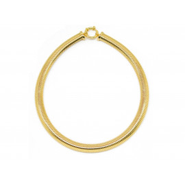 1AR Gold Plated Gas-Tube Necklace