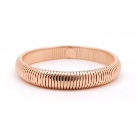 1AR Rose Gold Plated Gas-Tube Flexible Bracelet