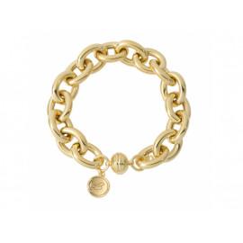 BRONZALLURE Rolo Link Golden Bracelet