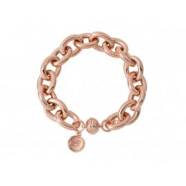 BRONZALLURE Rolo Link Rose Gold Bracelet