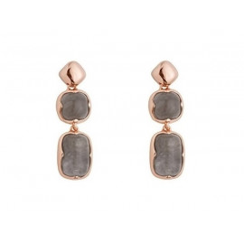 BRONZALLURE Quartz Rose Gold Earrings