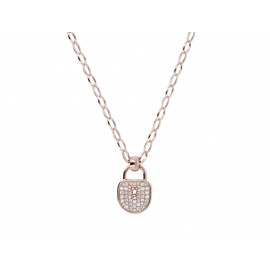 BRONZALLURE Lock Charm Necklace