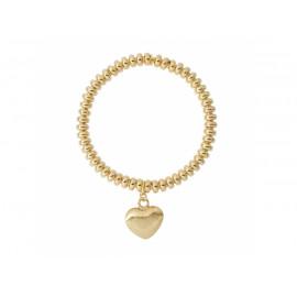 BRONZALLURE Elastic Bracelet with Heart