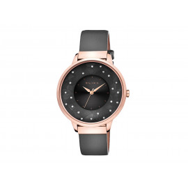 ELIXA Women's Rose Gold and Leather Watch E117-L476