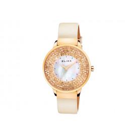 Reloj ELIXA Acero Dorado y Cristales E114-L462