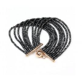 BRONZALLURE Multistrand Hematite Bracelet