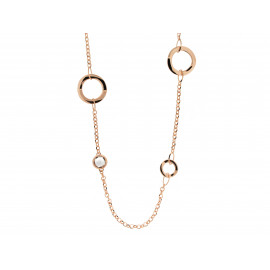 BRONZALLURE Linked Circle Necklace