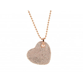 BRONZALLURE Pavé Heart Necklace
