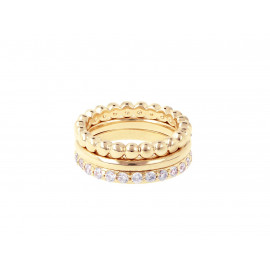 BRONZALLURE Yellow Gold Magic of Love Rings