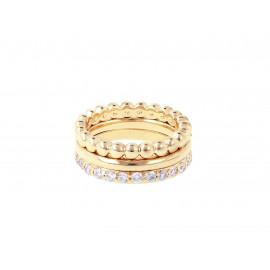 BRONZALLURE Yellow Gold Magic of Love Rings