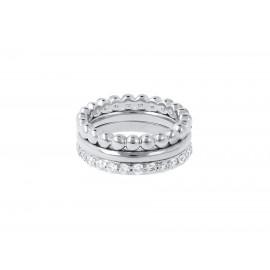 BRONZALLURE White Gold Magic of Love Rings
