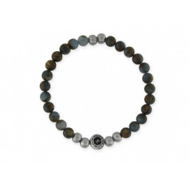 Men's LISKA Stainless Steel Bracelet with Natural Stones
