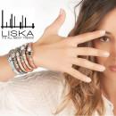 Women's LISKA Leather and Alloy Bracelet