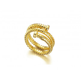 LE CARRE Gold Plated Silver Ring