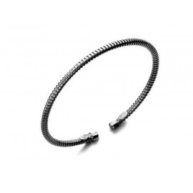 LE CARRE Ruthenium Plated Silver Bracelet