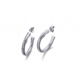 LE CARRE Rhodium Plated Silver Earrings