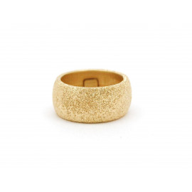 Diamond-Dust Finish Gold Plated Silver Ring