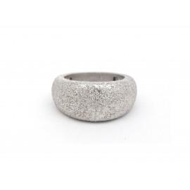 Diamond-Dust Finish Silver Ring