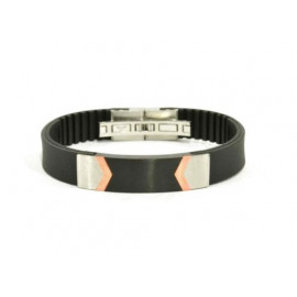 ADOLFO DOMINGUEZ Leather & Steel Bracelet