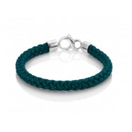 ADOLFO DOMINGUEZ Silk and Silver Bracelet
