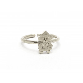 Rhodium Silver Fallera Ring