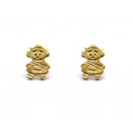 Gold Plated Silver Fallera Earrings