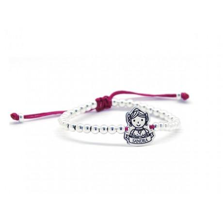 Sterling Silver Customizable Fallera Bracelet