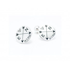 Sterling Silver Customizable Cufflinks
