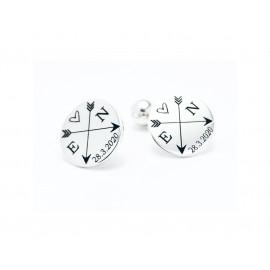 Sterling Silver Customizable Cufflinks