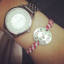 Hand Stamped Customizable Silver Tag Bracelet