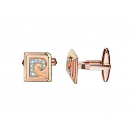 PIERRE CARDIN Rose Gold Silver Cufflinks