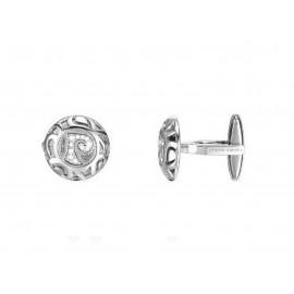 PIERRE CARDIN Rhodium Silver Cufflinks