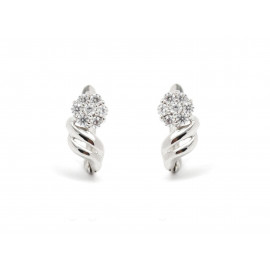 18k White Gold ZC Earrings for Girls