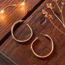 """UNO de 50 """"Ohmmm..."""" Gold Earrings PEN0419OR"""