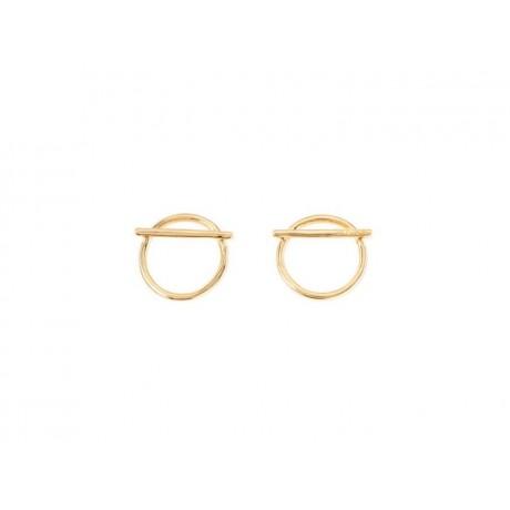 """UNO de 50 """"Switch On"""" Gold Earrings PEN0688"""