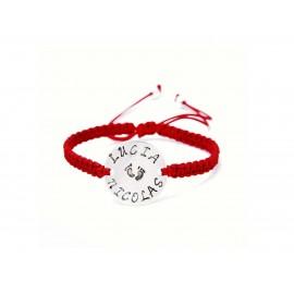 Customizable Sterling Silver Macrame Bracelet for Moms