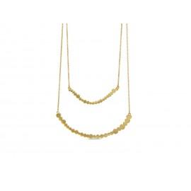 Collar Pebbles JOIDART Dorado