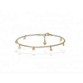 Golden Silver Anklet with Charms