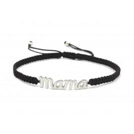Silver Mama Macrame Bracelet