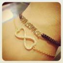 Gold Plated Silver Mama Macrame Wristband