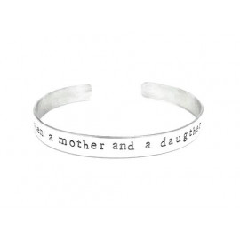 Hand Stamped Silver Cuff for Moms