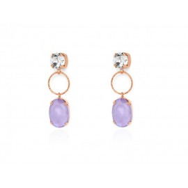 Rose Gold VICTORIA CRUZ Silver Earrings with Swarovski®