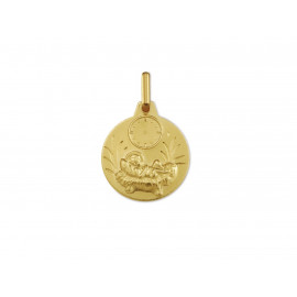 18k Gold Baby Jesus Clock Medal